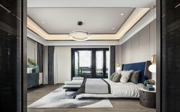 景明佳园现代简约卧室效果图