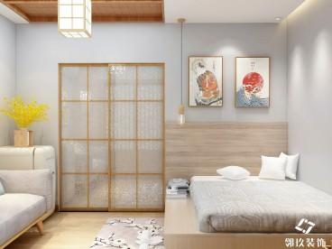 苏宁广场尊悦单身公寓 45平 日式风日式卧室效果图
