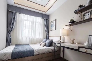 融匯半島新中式臥室效果圖