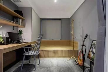 三盛托斯卡纳小区现代简约书房效果图