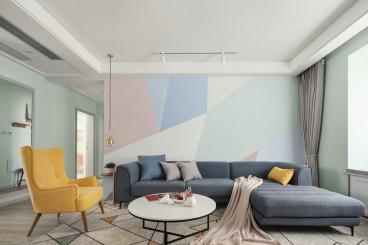 魅力万科城现代简约客厅效果图