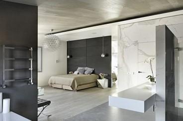 保利时代现代简约卧室效果图