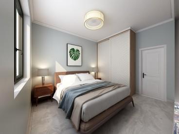 洛阳路劲御城现代简约卧室效果图