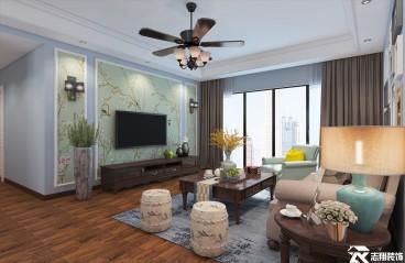 金阳新世界三室一厅美式装修效果图