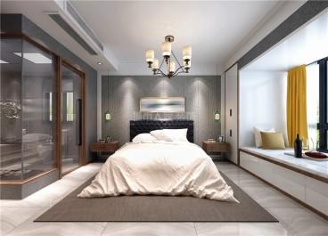 伟业公馆中式卧室效果图
