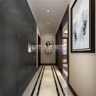 華洲城熙悅都現代簡約廊道效果圖