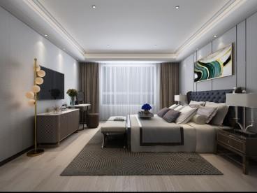 伊泰华府世家美式卧室效果图