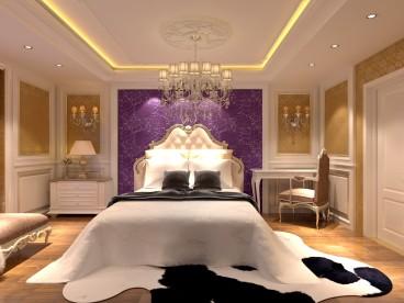 金润别墅美式卧室效果图