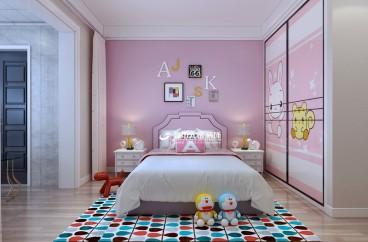 香颂小区现代简约卧室效果图