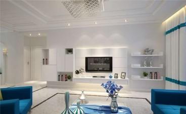 第三城紫曼园时尚混搭客厅效果图