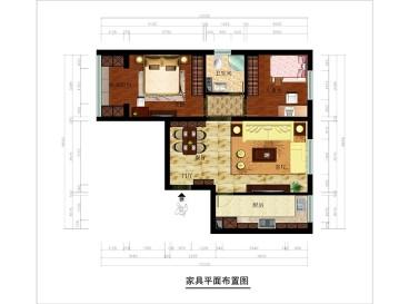 幸福家园1号院现代简约餐厅85平米效果图