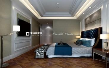 濱海新城歐式古典臥室效果圖