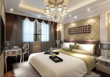 御景观城欧式古典卧室效果图