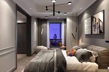 山顶上港式卧室