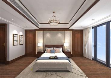 廣宏城中式臥室效果圖