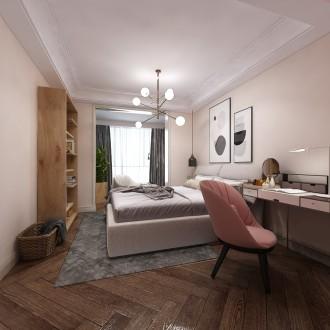 北京城建世华泊郡现代简约卧室效果图
