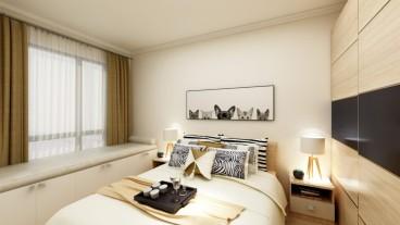 中建悅海和園現代簡約臥室效果圖