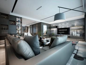 建发独墅湾现代简约客厅效果图