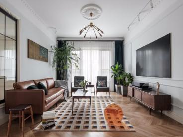 东方御园时尚混搭客厅效果图