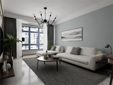 华远海蓝城现代简约客厅效果图