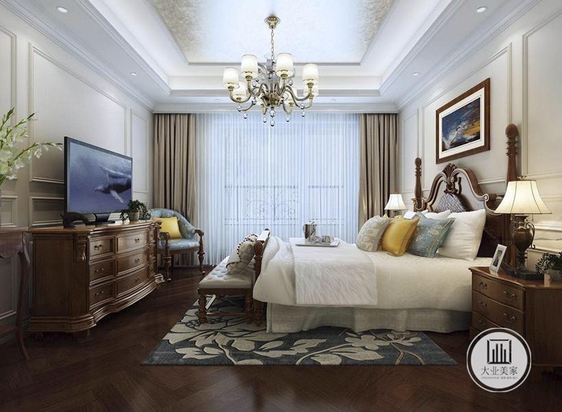 首开琅樾 欧式古典卧室效果图