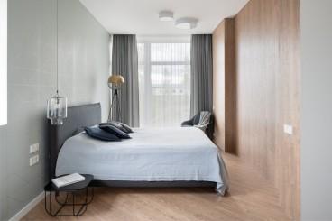 滇池卫城微风岛现代简约卧室效果图