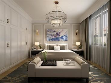 万科金域名城现代简约卧室效果图