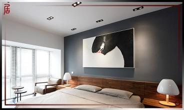 颐和九里现代简约卧室效果图