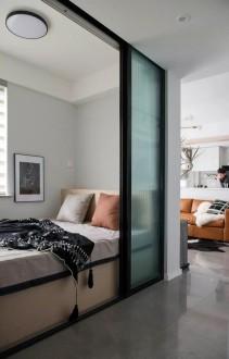 复兴北里7号楼现代简约卧室效果图