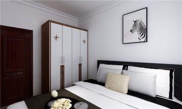 双青新家园现代简约卧室效果图