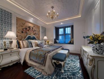 美洲花园二期欧式古典卧室效果图
