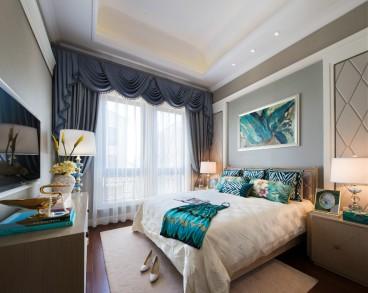中海五期現代簡約臥室效果圖