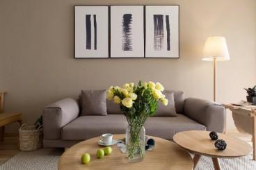 鲁达国际小区现代简约客厅效果图