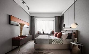 艾美卡特兰新中式卧室效果图