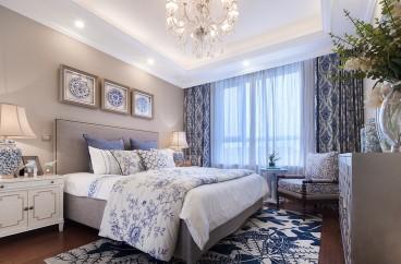 融创凡尔赛花园简美卧室效果图