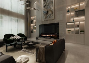 中海央墅法式风格客厅效果图