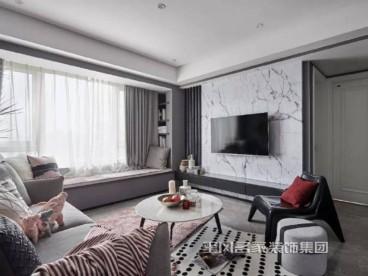 泰颐新城现代轻奢客厅效果图