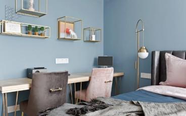 华远海蓝城现代轻奢卧室效果图