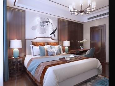 山语罗兰 别墅区中式卧室效果图