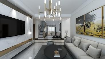 东方名邸现代简约客厅效果图
