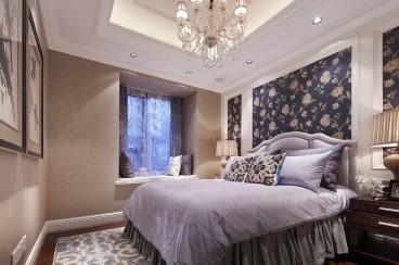 棠湖柏林城美式卧室效果图