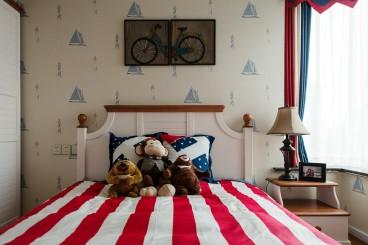 汇融悉尼湾美式卧室效果图