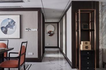 中豪润园新中式客厅效果图