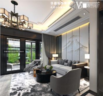 碧桂园城市之光新中式客厅效果图