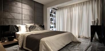 美的城后现代卧室效果图