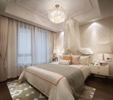 亚太国际花园法式风格卧室效果图