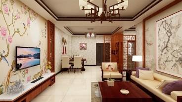 雅山新天地中式客厅效果图