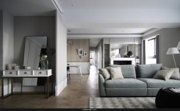 绿地国际理想城现代轻奢客厅效果图