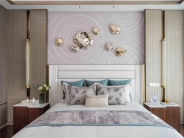 万科翡翠园新中式卧室效果图