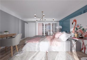 中南世纪城现代简约卧室效果图
